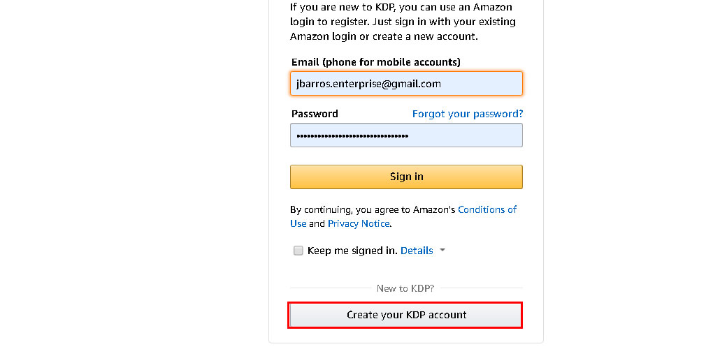 Create-Your-Account-KDP