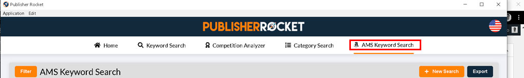 step 1 - Publisher-Rocket-AMS-Keyword-Search