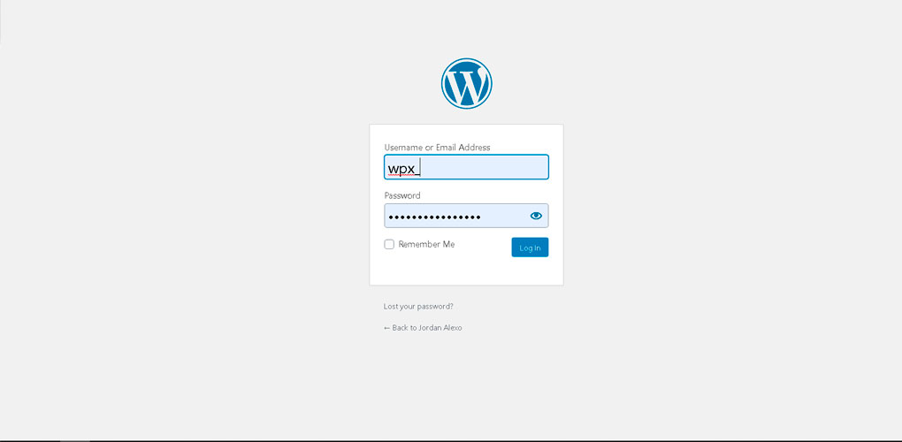 login-credentials-wordpress-blog