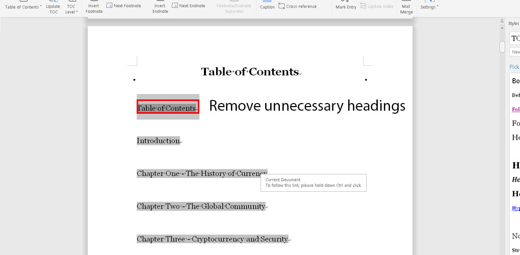 remove-unnecessary-headings-from-the-table-of-content