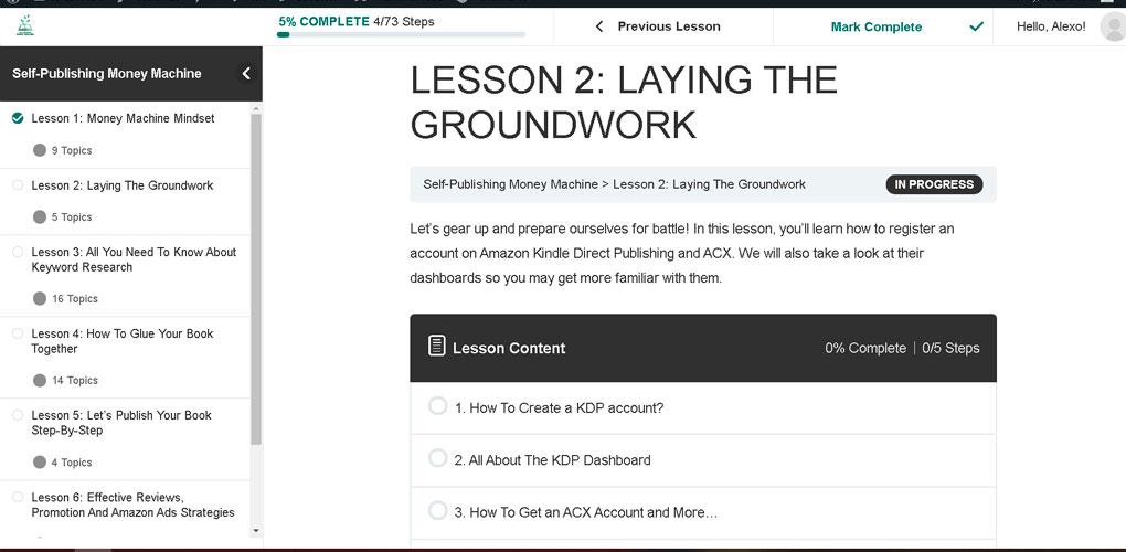 self-publishing-money-machine-laying-the-groundwork