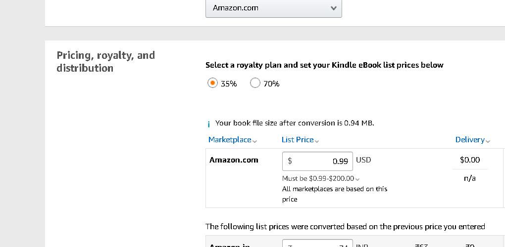 kindle-publishing-price