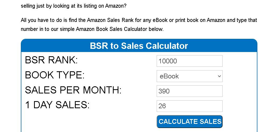 kindle-publishing-sales-rank-calculator